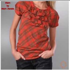 Marc By Marc Jacobs Tartan holidays ruffle T-shirt